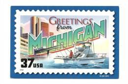 Cp, Etats-Unis, Michigan, Greetings From Michigan - Etats-Unis