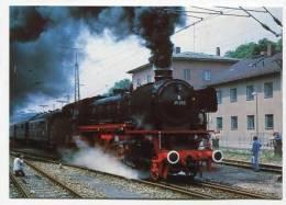 TRAIN - AK127055 IG 41 018 E.V. Eilgüterzuglokomotive ... Im Bhf. Erding - Stazioni Con Treni