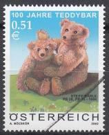 Specimen, Austria Sc1895 Teddy Bear 100th Anniv. - Puppen