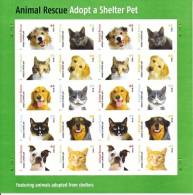 U.S. 4460a  **  ANIMAL RESCUE  DOGS  CATS  SHEETLET - Dogs