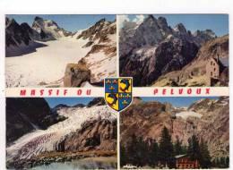 CPM 10*15/A2684/MASSIF DU PELVOUX MULTIVUES 1970 BLASON - France