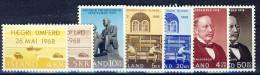 #C1140. Iceland 1968. 7 Different Items. MNH(**) - Collections, Lots & Séries