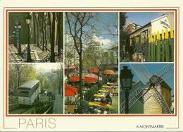 CPSM De PARIS (75) : Promenade à Montmartre Autour De La Place De Tertre. - Plätze
