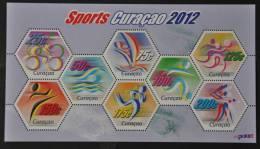 CURACAO 2012 ++  SHEET  ++ SPORTS CYCLING SWIMMING SURFING ATHLETICS BASEBALL   MNH POSTFRIS ** - Curacao, Netherlands Antilles, Aruba
