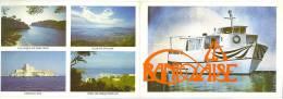 """Carte Double Publicitaire - Bateau """" La Bandolaise II """" Promenade En Mer BANDOL - Other Collections"""