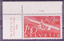 SUISSE - Poste Aérienne - N° 40 - Coin De Feuille - Neuf** - Neufs
