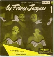 """45 Tours EP - LES FRERES JACQUES - PHILIPS 432062 - """" LA SAINT-MEDARD """" + 3 ( Pochette Glacée ) - Autres - Musique Française"""