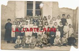 87 LE CHATENET EN DOGNON - Carte Photo De La Classe En 1920 (ecole) - Trés Rare - France