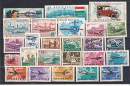 Lot 22 HUNGARY   Transport  3 Scans 57 Different - Timbres