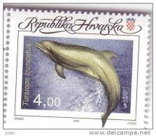DOLPHIN  - Tursiops Truncatus ( Croatia MNH** ) Dauphin Delphin Delfino Delfin Dolphins Dauphins Undersea Undwrwater - Dolphins