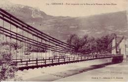 Pont Suspendu Sur Le Drac.... - Grenoble