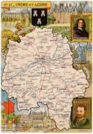 Cpsm Contour Géograph., Pinchon, Indre Et Loire (postée De La Roche Posay, Vienne) Tours, Loches, Chinon, Rabelais, ... - France