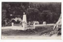 25  PONTARLIER   LL N°24   Le Monument De L'écluse - Pontarlier