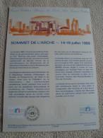 FRANCE - Sommet De L'Arche - 14-16/7/1989  - 1989 - Bon état - Documents De La Poste