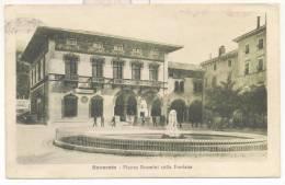 """2029-ROVERETO(TRENTO)-PIAZZA ROSMINI-ANNULLO """"POSTA MILITARE-1° DIV. A""""-ANIMATA-1916-FP - Trento"""