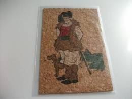 Costume Sardegna  Cartolina In Sughero Pastore Di Forni - Costumi