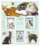GUINEE - RARE BLOC N°2546/8 ** - COTE  = 27 EUROS - CHAT CATS + SCOUTISME - Guinée (1958-...)