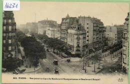 Paris : Vue Panoramique Des Boulevards Montparnasse Et Raspail , Non Circulé - District 10