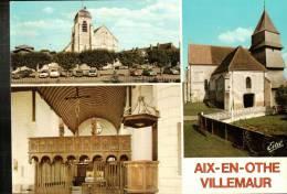 CPM   AIX EN OTHE  -VILLEMAUR    Multivues - France