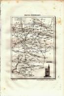 1835 - Gravure Sur Cuivre - Carte Du Département De L´Aisne - FRANCO DE PORT - Stampe & Incisioni