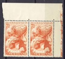 Pay-Bas Netherlands Nederland 1945, Bevrijdingszegel - Leeuw - Draak - Lion - Dragon **, MNH - Periodo 1891 – 1948 (Wilhelmina)