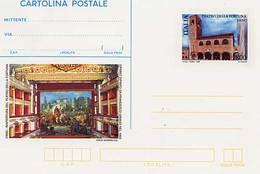 """INTERO POSTALE TEATRO DELLA FORTUNA - FANO L. 800 - Catalogo FILAGRANO """"C236"""" - NUOVO ** 1998 - 1946-.. République"""