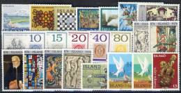#A1365. Iceland 1972-74. 22 Different. MNH(**). - Islande