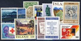 #A1367. Iceland 1975-76. 12 Different. MNH(**). - Collections, Lots & Séries