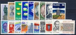 #A1369. Iceland 1975-79. 19 Different. MNH(**). - Islande