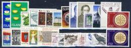 #A1371. Iceland 1977-81. 26 Different. MNH(**). - Islande