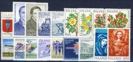 #A1375. Iceland 1979-84. 18 Different. MNH(**). - Collections, Lots & Séries