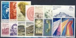 #A1380. Iceland 1984-86. 15 Different. MNH(**). - Islande