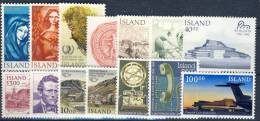 #A1381. Iceland 1984-87. 14 Different. MNH(**). - Collections, Lots & Séries