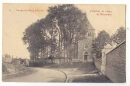 E757 - FEXHE-LE-HAUT-CLOCHER  -  L'église Et Route De Moumale - Fexhe-le-Haut-Clocher