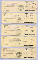 5 Stück Postformulare Rundfunkteilnehmergebühr LEOBEN 1940 1941 (1) - 1918-1945 1. Republik