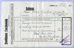 Rechnung Funkhaus Kurt Laczkovich LEOBEN 1940 über Eumig Gerät - Austria