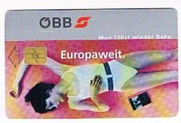 AUSTRIA - OBB (CHIP) -  EUROPAWEIT: GIRL -    USED °-  RIF. 5299 - Austria
