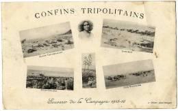 TUNISIE  CONFINS TRIPOLITAINS  SOUVENIR  DE LA CAMPAGNE 1915 -16 - Tunisie