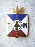 INSIGNE MARINE NATIONALE PAQUEBOT ALGERIE SGTM LE SIDI BEL ABBES PARAINAGE LEGION ETRANGERE SUPERBE ETAT A. AUGIS LYON