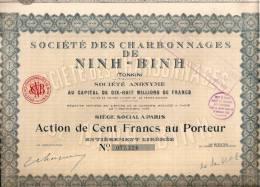 SOCIETE DES CHARBONNAGES DE NINH-BINH - Asie