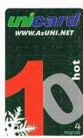 AZERBAIJAN  -  UNINET (RECHARGE GSM)  - UNICARD 10      - USATA° (USED)  -   RIF. 311 - Azerbaigian