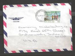 1984 (21 Mar) 58 Cents Antarctic Research - Christchurch To Indiana USA - New Zealand