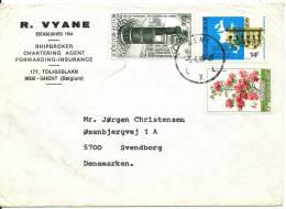 Belgium Cover Sent To Denmark 5-6-1980 - Belgium