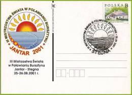 Pologne / Poland (2001) Jantar: Collier D'ambre / Amber Necklace, Mer Baltique. 3e Rassemblement De Chercheurs D'ambre. - Geology