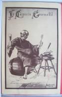 Nancy Restaurant Capucin Gourmand Moine Litho Illustrateur René Deparday Voyagé 1959 Cachet Flamme Armée Francaise - Hotels & Restaurants
