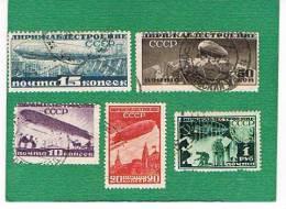 URSS -  POSTA AEREA  YV. 22.26 - 1931 A FAVORE DELLA COSTRUZIONE DEI DIRIGIBILI - USED °   RIF. CP - 1923-1991 USSR