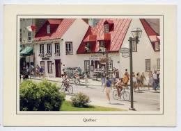 """Canada--QUEBEC--datée 2000--Restaurant """"Aux Anciens Canadiens"""",rue Saint Louis(très Animée,vélos) - Québec - La Cité"""