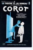 Ref 81 : CP Promo Type Cart´com COROT Jean Laurent Cochet Illustrateur Leo Kouper Peintre Chevalet - Pubblicitari