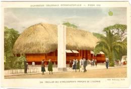 LOT 2 CPA EXPOSITION COLONIALE INTERNATIONALE. PARIS 1931. PAVILLON FRANCAIS DE L'OCEANIE. TEMPLE D'ANGKOR-VAT - Ausstellungen