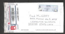 2011 Registered Meter 07/10/11 Sausset Les Pins To South Carolina USA - Frankrijk